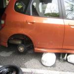 Rear wheel missing