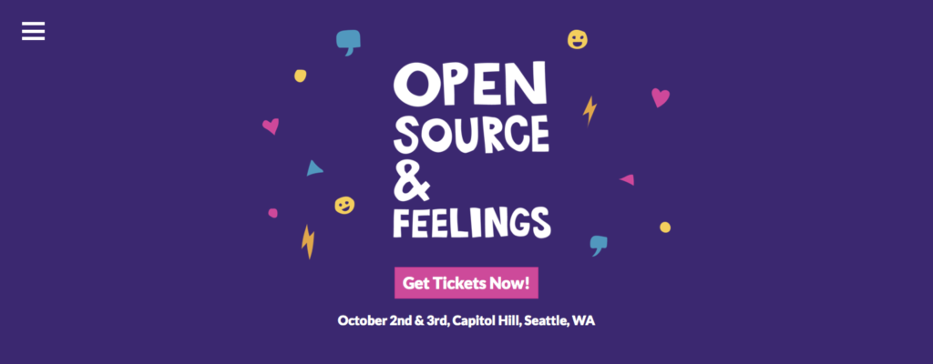 Catch Me at Open Source & Feelings in Seattle